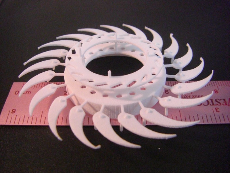 A picture of my horribly failed attempt at designing a printable Iris Diaphragm